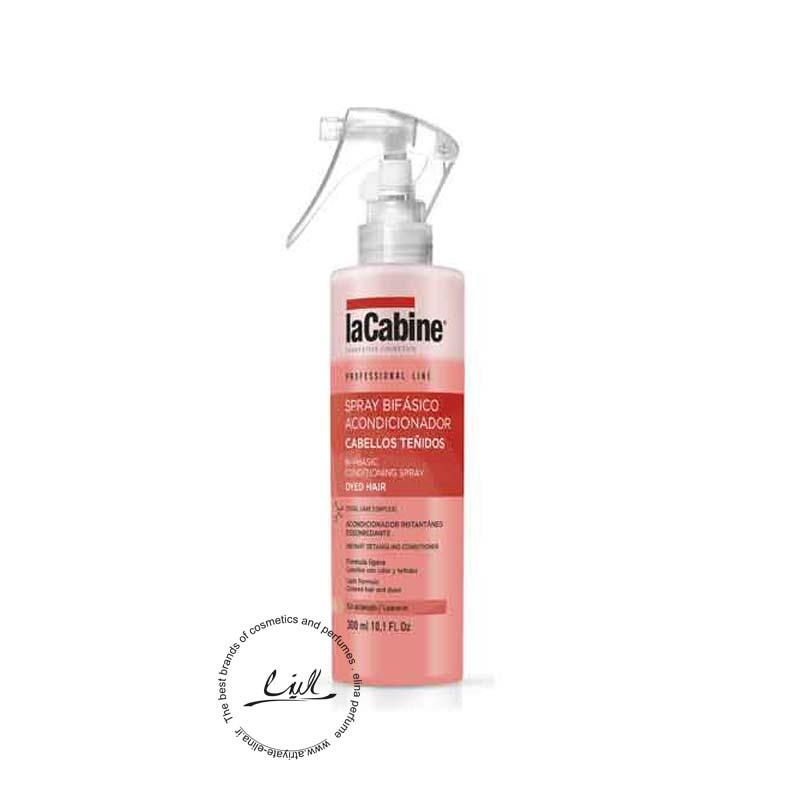 لاکابین نرم کننده دوفاز مخصوص موهای رنگ شده حجم 300میل-Lacabine