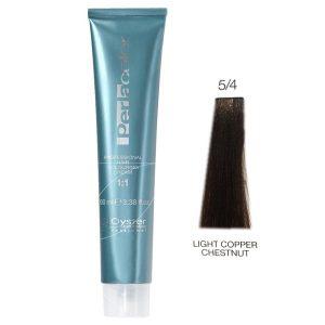 رنگ مو پرلاکالر اویستر فندقی مسی روشن شماره ۵/۴ -Oyster Perla Color Hair Color Num 5/4