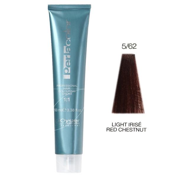 رنگ مو پرلاکالر اویستر فندقی قرمز بنفش روشن شماره ۵/۶۲ -Oyster Perla Color Hair Color Num 5/62