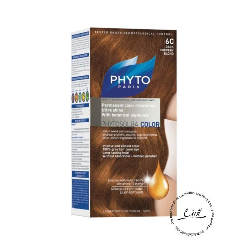 کیت رنگ مو فیتو مدل PHYTO COLOR شماره 6C