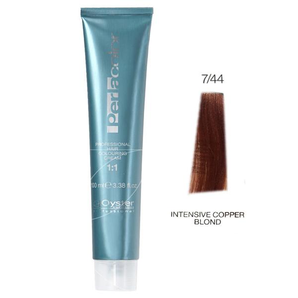 رنگ مو پرلاکالر اویستر بلوند مسی قوی شماره ۷/۴۴ -Oyster Perla Color Hair Color Num 7/44