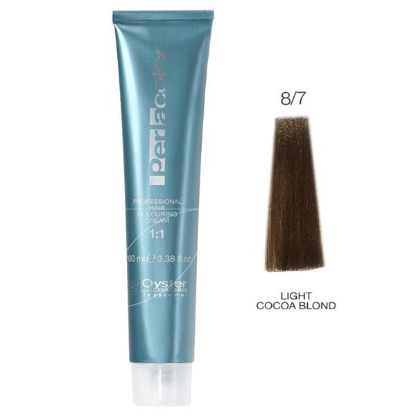 رنگ مو پرلاکالر اویستر بلوند کاکائویی روشن شماره ۸/۷ -Oyster Perla Color Hair Color Num 8/7